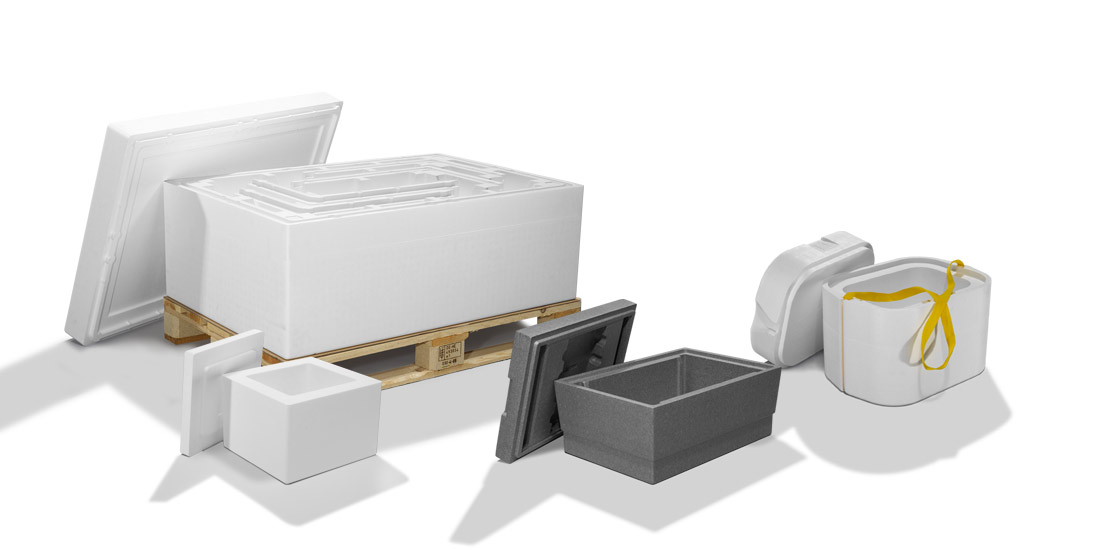 Styrofoam cooling packaging for shipping